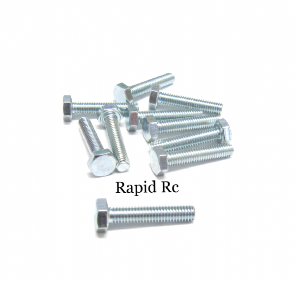M4 x 20mm Hex Head High Tensile Hex Bolts